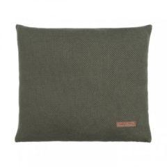 Groene Baby's Only Classic sierkussen 40x40 cm khaki