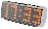 Soundmaster UR200 UKW PLL-Radio m. Kalender u. Temperaturanzeige, versch. Farben Farbe: Silber