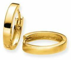 Gele Gouden klapcreolen gold collection Glanzend - vierkante buis - 14 x 2.5 mm 207.5076.14