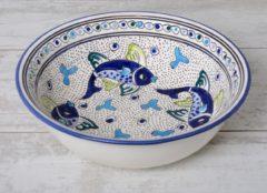 Blauwe Saladier Poisson Ø 30 cm | SS.AD.30 | Dishes & Deco