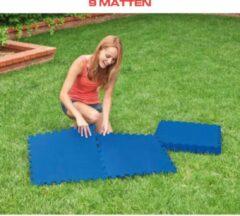 Blauwe Merkloos / Sans marque Zwembad |Yogamat 9 st. | Puzzelmat | Fitness tegels | fit sport