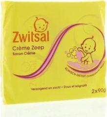 Zwitsal Crème Zeep - 2 x 90 g - Baby - Voordeelverpakking