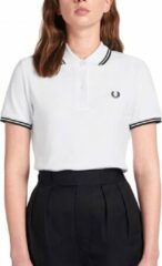 Witte Fred Perry Twin Tipped Shirt Twin Tipped Shirt Dames Poloshirt Maat L