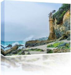 Sound Art - Canvas + Bluetooth Speaker Castle On The Beach (41 x 51cm)