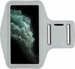 AYME Hardloop sportarmband telefoonhouder voor de iPhone 11 – Telefoonhouder hardlopen Speciaal voor de iPhone 11 – Inclusief ruimte voor een sleutel – Grijs