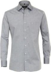 Casa Moda Overhemd Effen Zilver Grijs Kent Modern Fit - 45