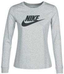 Grijze T-Shirt Lange Mouw Nike W NSW TEE ESSNTL LS ICON FTR