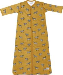 Gouden Meyco Zebra Animal babyslaapzak met afritsbare mouw gevoerd - 70 cm - Honey Gold