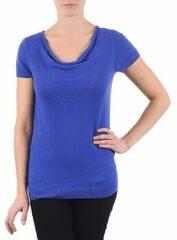 Blauwe T-shirt Korte Mouw La City PULL COL BEB