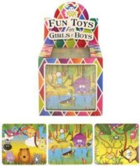 Huismerk 108 stuks - Puzzels Jungle - 13x12Cm - In Traktatiebox - Uitdeelcadeautjes - Uitdeel - Traktatie voor kinderen - Jongens - Meisjes