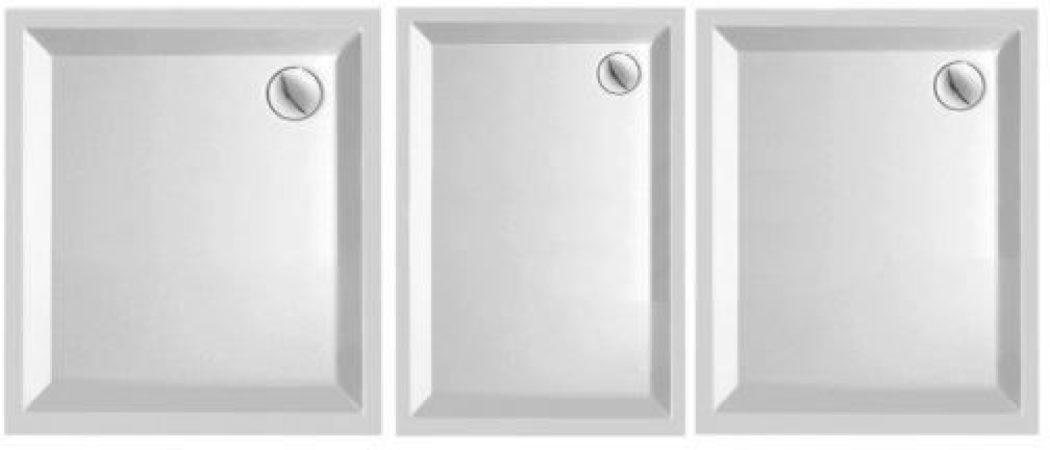 Afbeelding van Plieger B.v Plieger Kwadrant kunststof douchebak acryl rechthoekig 100x80x5cm wit 0942118