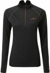 Roze Ronhill Women's Tech Merino 1/2 Zip - Hardloopshirts (lange mouwen)