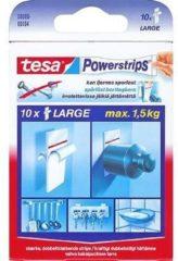 Tesa - 58000 - powerstrips - Zelfklevende strip - Dubbelzijdig - Large - 10 stuks wit