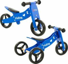 2Cycle 2 in 1 Loopfiets/Driewieler - Hout - Blauw