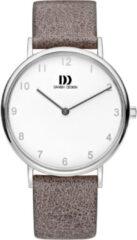 Zilveren Danish Design watches edelstalen dameshorloge Sydney Silver Brown IV29Q1173
