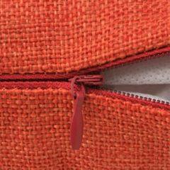 Oranje VidaXL Kussenhoezen 4 stuks linnen look terracotta 80x80 cm