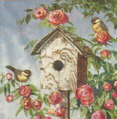 Ihr Servetten Lovely Birdhouse 33 x 33 cm