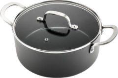 Antraciet-grijze ISENVI Murray keramische kookpan 24 CM - RVS greep