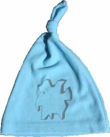 Afbeelding van Anha'Lore Designs - Weezel - Babymuts - Lichtblauw/grijs