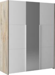 Ameubelment Kledingkast Prado 162 cm breed in endgrain eiken met mat wit