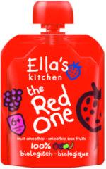 6x Ella's kitchen Knijpzakje Fruit Smoothie 6+ m Banaan Aardbei Appel Framboos 90 gr