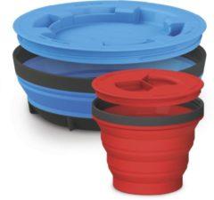 Rode Sea to Summit X-Seal & Go Set - Campingservies inklapbaar - Beker+schaal - Large - Blauw/Red