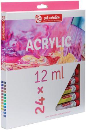 Afbeelding van Talens Art Creation acrylverf tube van 12 ml, set van 24 tubes in geassorteerde kleuren