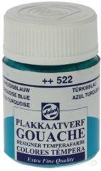 Talens plakkaatvef Extra Fijn flacon van 16 ml, turkooisblauw