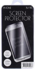 Merkloos / Sans marque Iphone x/xs screenprotector van gehard glas