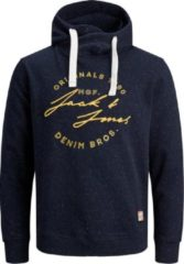 Marineblauwe Jack & Jones JORREUBEN SWEAT HOOD