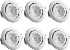 Monzana LED-inbouwlamp Krog 6 st. wit