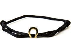 Caviar Collection Armband / Enkelbandje Neon Black X Horseshoe Gold
