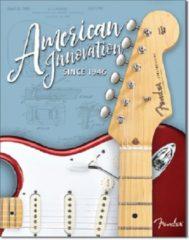 Desperate Enterprises Fender Innovation Since 1948.  Metalen wandbord 31,5 x 40,5 cm.
