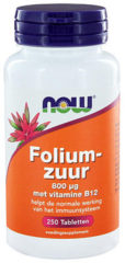Now Foods Now Foliumzuur 800 Mcg Trio (3x 250tab)