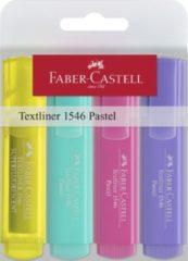 Tekstmarker Faber-Castell 1546 etui met 4 stuks assorti