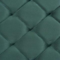 VidaXL Bankje 97 cm fluweel en roestvrij staal groen