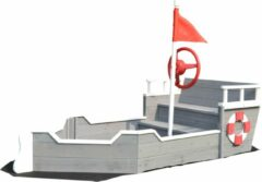 Rode Rijoka Zandbak Schip Boot | Speeltoestel 1950 x 940 x 1355mm