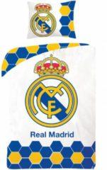 Merkloos / Sans marque Real Madrid Logo - Dekbedovertrek Eenpersoons - 140 x 200 cm - Wit