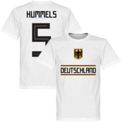 Retake Duitsland Hummels 5 Team T-Shirt - Wit - M