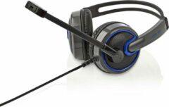 Zwarte Nedis Comfortabel Gaming Headset met 2 x 3,5mm jack + microfoon