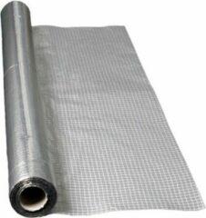 Grijze Meuwissen Miofol 125 AV folie aluminium B=1500 mm rol 50 m