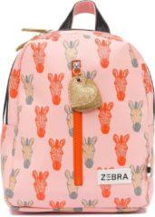 Roze Zebra Trends Girls Rugzak S Zebra peach/gold Kindertas