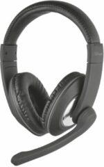 Trust Reno PC-headset 3.5 mm jackplug Kabelgebonden, Stereo Over Ear Zwart
