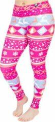 ZUMPREMA Foute kerst legging - Roze - paars