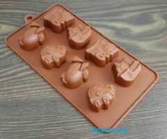 Bruine Koozie.eu EIZOOKSHOP Vorm Voertuigen - Chocolade - Fondant - Klei