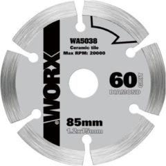 Worx cirkelzaagblad WA5038 diamant 85 mm