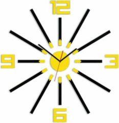 Mandee.nl Moderne LANA Glanzend Wandklok 65 CM Geel Beschikbaar In 9 Kleuren