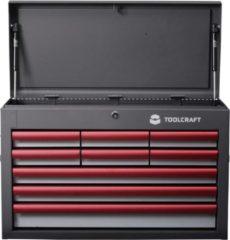 TOOLCRAFT Koffer voor gereedschap en kleine onderdelen WZK-309 9laden Afm.:(b x h x d) 660 x 434 x 307 mm 1 schuiflade van 591x75 mm · 2 schuifladen van