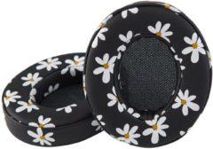 Witte MIIEGO BOOM koptelefoons oorkussens Floral white