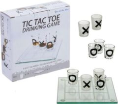 Out of the Blue Tic Tac Toe - Drankspel - 20 x 20cm - Boter Kaas en Eieren